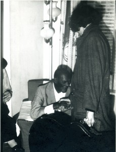Saying goodbye to Rev. Davis. We met once more, for his last lesson. photo: Robert Tilling (1972)