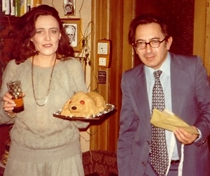 János Sebestyén with his page turner and pal Ms Hegyessy.