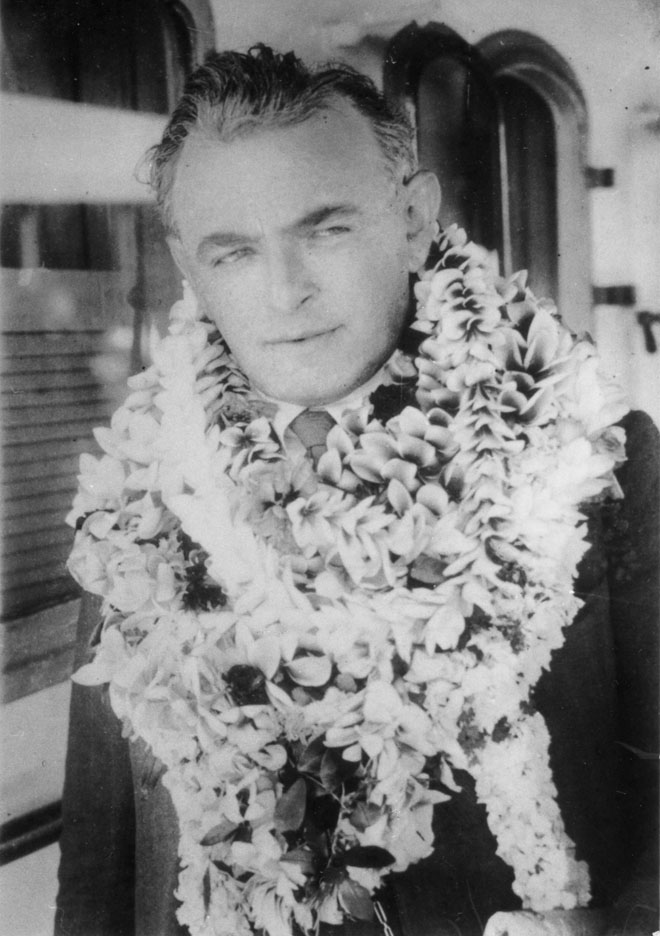 Friedman in Hawaii 1927, soon after recording the Polonaise.