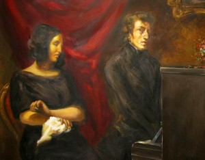 Chopin & Sand by Delacroix