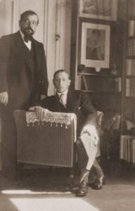 Debussy and Stravinsky. photo by Erik Satie