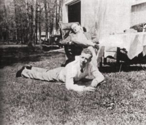 Colin McPhee (seated) with Benjamin Britten