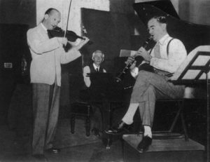 Bartók, Szigeti, and Benny Goodman recording Bartók's Contrasts.